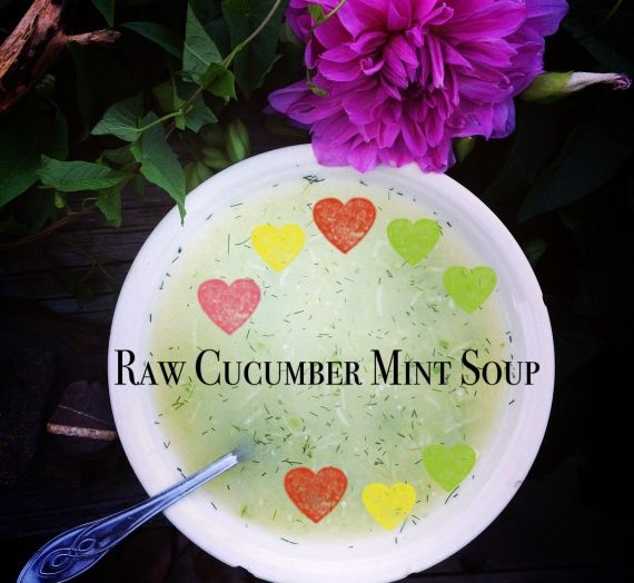 Chilled (Raw!) Cucumber + Mint Soup