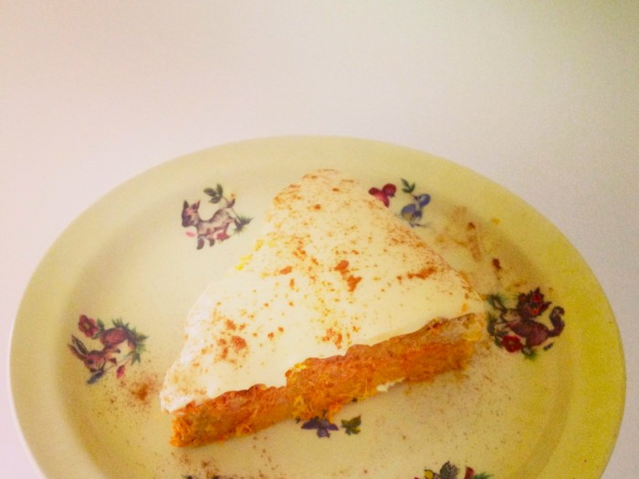 Flour-free Carrot Cake w/ Whipped Coconut Milk Icing