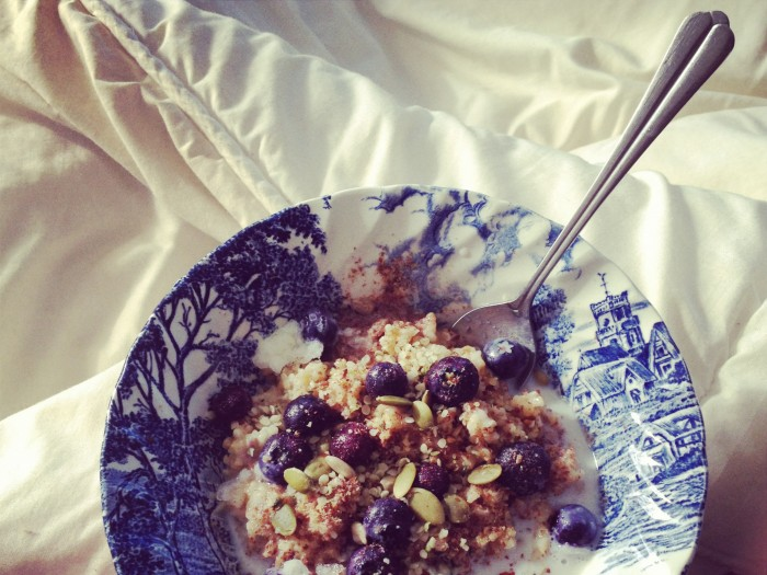 Breakfast in Bed: Chai Infused Steel Cut Oats