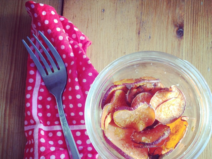 Sweet n' Salty {Baked} Yam Chips
