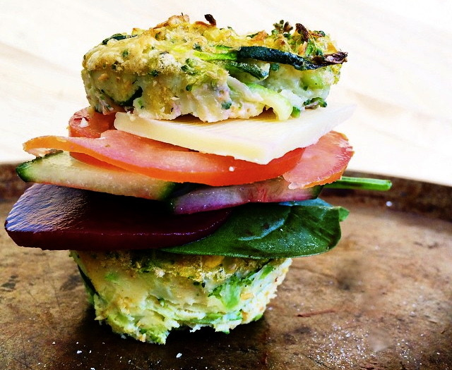 Kitchen Sink Egg Muffin Breakfast Sandwich