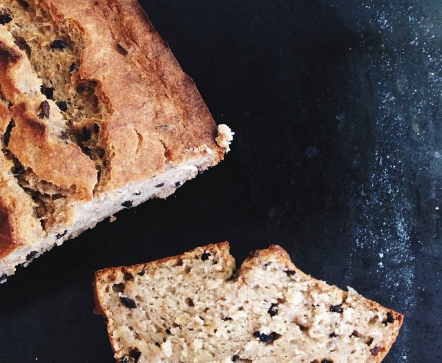 Banana, Coconut + Currant Loaf