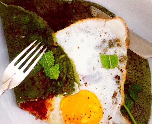 Savoury Vitamin Green Crepes